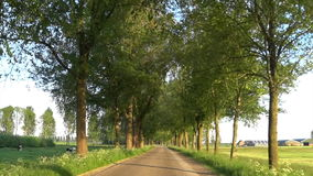 Cycling on a winding country road stock video footage