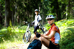 Cycling woman Royalty Free Stock Images