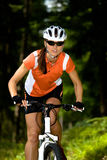 Cycling woman Stock Photo