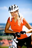 Cycling woman Royalty Free Stock Photography