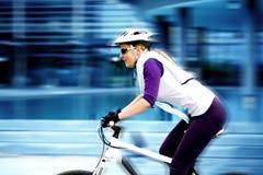 Cycling woman Royalty Free Stock Photos