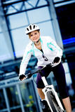 Cycling woman Royalty Free Stock Photos