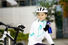 Cycling woman Royalty Free Stock Image