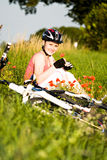 Cycling woman Stock Images