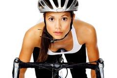 Cycling woman Stock Photo
