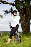 Cycling woman Stock Image