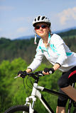 Cycling woman Royalty Free Stock Image