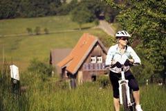 Cycling woman Royalty Free Stock Photo