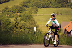Cycling woman Stock Photos