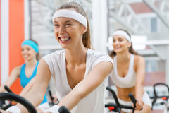 Cycling workout royalty free stock photos