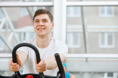 Cycling workout Stock Photo