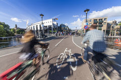Cycling path in Amsterdam Royalty Free Stock Image
