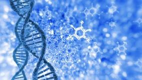Cyclische omwenteling van menselijke DNA stock illustratie