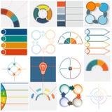 16 cyclische processen van malplaatjesinfographics vier posities Royalty-vrije Stock Afbeelding