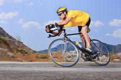 Cyclist. A view of a cyclist Stock Photography