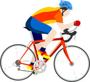 Cyclist. Illustration of cyclist in race Royalty Free Stock Image