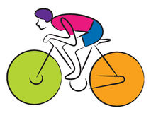 Cyclist. Logo isolated on a white background Stock Images