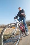 Cyclist. Stock Photos