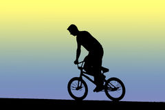 Cyclist. Cycling Royalty Free Stock Images
