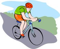 Cyclist stock illustration