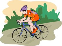 Cyclist royalty free illustration