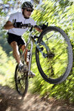 Cyclist. Photo of a mtb racer royalty free stock images