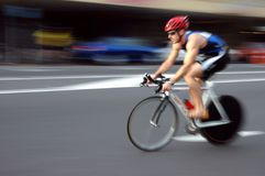 Cyclist. Racing Stock Image