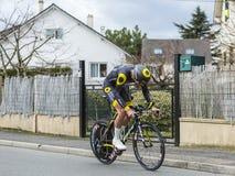 The Cyclist Adrien Petit - Paris-Nice 2016 Stock Image