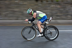Cyclist, Alan Bingham (1587), panning technique Royalty Free Stock Photo