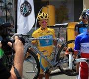 Cyclist Alberto Contador Royalty Free Stock Photography