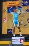 Cyclist Alberto Contador Stock Images