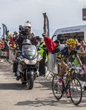 The Cyclist Alberto Contador on Mont Ventoux Stock Image