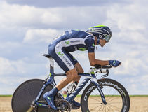 The Cyclist Alejandro Valverde Stock Image