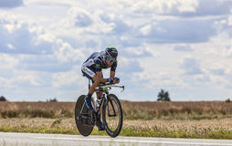 The Cyclist Alejandro Valverde Stock Images