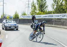 The Cyclist Alejandro Valverde- Tour de France 2014 Royalty Free Stock Image