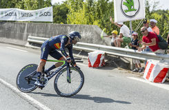 The Cyclist Alejandro Valverde- Tour de France 2014 Royalty Free Stock Photo