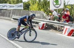 The Cyclist Alejandro Valverde- Tour de France 2014 Royalty Free Stock Photo