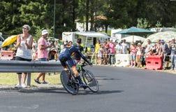The Cyclist Alejandro Valverde- Tour de France 2014 Stock Images