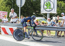 The Cyclist Alejandro Valverde- Tour de France 2014 Stock Photo