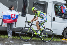 The Cyclist Alessandro De Marchi Royalty Free Stock Photography
