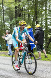 The Cyclist Alessandro Vanotti Climbing Col du Platzerwasel - To Stock Image