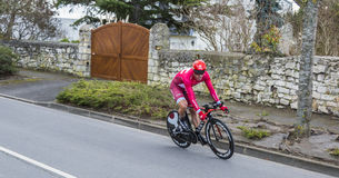 The Cyclist Alexander Kristoff - Paris-Nice 2016. Conflans-Sainte-Honorine,France-March 6,2016: The Norwegian cyclist Alexander Kristoff of Katusha Team riding Stock Images