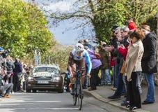 The Cyclist Alexis Gougeard - Paris-Nice 2016 Stock Image