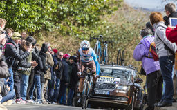 The Cyclist Alexis Vuillermoz - Paris-Nice 2016 Royalty Free Stock Image
