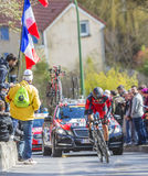 The Cyclist Amael Moinard - Paris-Nice 2016 Royalty Free Stock Images