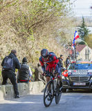 The Cyclist Amael Moinard - Paris-Nice 2016 Stock Photography