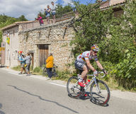 The Cyclist Andre Greipel on Mont Ventoux - Tour de France 2016 Royalty Free Stock Photo