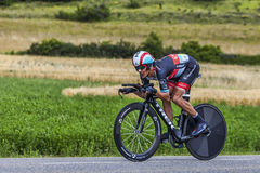The Cyclist Andreas Kloden. Chorges, France- July 17, 2013: The German cyclist Andreas Kloden from RadioShack-Leopard Team pedaling during the stage 17 of 100th Stock Images