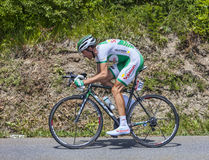 The Cyclist Anthony Delaplace. Chorges, France- July 17, 2013: The French cyclist Anthony Delaplace from Sojasun Team pedaling during the stage 17 of 100th Stock Images