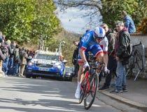 The Cyclist Arnaud Demare - Paris-Nice 2016 Royalty Free Stock Photo